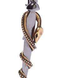 Alexander McQueen - Metallic Gunmetal And Gold-tone Earrings - Lyst