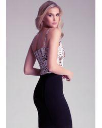 Bebe - Multicolor Slit Front Bodysuit - Lyst
