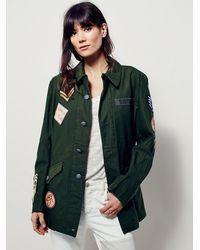 482c22060 Women's Green Vintage Military Jacket