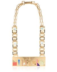 Maria Francesca Pepe - Metallic City Skyline Necklace - Lyst