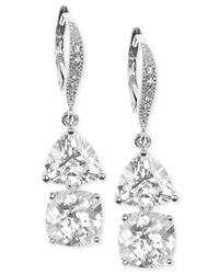 Judith Jack | Metallic Sterling Silver Crystal Double Drop Earrings | Lyst