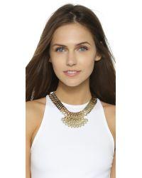 DANNIJO - Metallic Julia Necklace - Gold/crystal - Lyst
