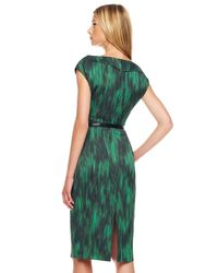 Michael Kors | Green Printed Cady Dress | Lyst
