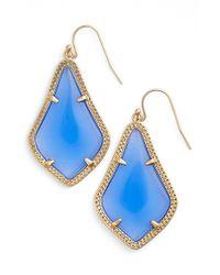 Kendra Scott | Blue 'Alex' Drop Earrings - Periwinkle Translucent Glass | Lyst