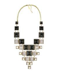 Kendra Scott - Black Maddox Statement Necklace - Lyst