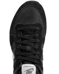 Nike - Internationalist Leather And Mesh Sneakers - Black - Lyst