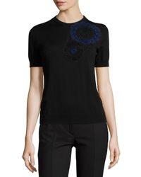 Nina Ricci - Blue Short-sleeve Patchwork Top - Lyst
