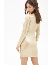 Forever 21 Metallic Sequined Bodycon Dress
