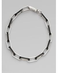 Marc By Marc Jacobs - Black Enamel Link Necklace - Lyst