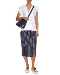 Sophie Hulme - Blue Claremont Leather Cross-Body Bag - Lyst
