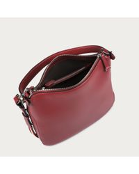 Bally Fiona Small Women's Leather Shoulder Bag In Red