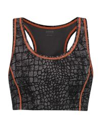 Yummie By Heather Thomson   Black Venus Printed Stretch-jersey Sports Bra   Lyst