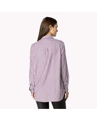 Tommy Hilfiger | Red Cotton Striped Shirt | Lyst