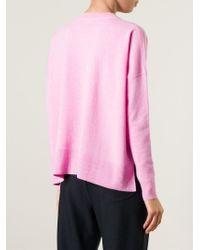 DEMYLEE | Pink Chest Pocket Sweater | Lyst
