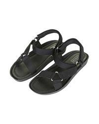 TOPSHOP Black Hitch Sporty Sandals