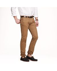 J.Crew | Natural 484 Slim-fit Garment-dyed Jean in Dusty Camel for Men | Lyst