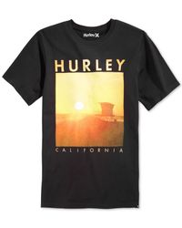 Hurley | Black Cali Vibes T-shirt for Men | Lyst