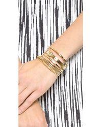 Michael Kors - Metallic Frozen Open Cuff Bracelet Gold - Lyst