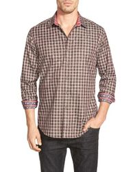 Robert Graham | Brown 'waterford' Classic Fit Check Sport Shirt for Men | Lyst