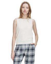 Rebecca Taylor White Sloane Sweater Shell