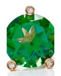 Delfina Delettrez | Metallic 18k Gold, Topaz And Diamond Magic Triangle Ring | Lyst