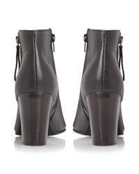 Dune Black Jaspa Peep Toe Heeled Shoes Boots