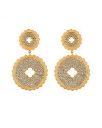 Asha | Metallic Quinn Pave Earrings | Lyst