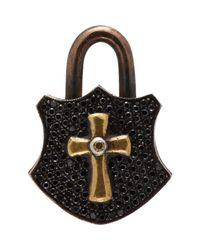Sevan Biçakci | Black Cross Padlock Charm | Lyst
