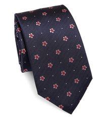 Eton of Sweden | Blue Floral & Pin-dots Silk Tie for Men | Lyst