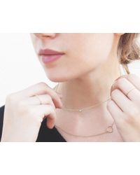 Vrai & Oro | Pink Solitaire Diamond Necklace | Lyst