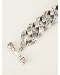 King Baby Studio | Gray Engraved Link Bracelet | Lyst