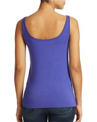 Lord & Taylor - Blue Plus Iconic Fit Slimming Tank Top - Lyst