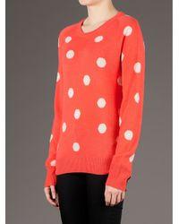 Equipment Red Polkadot Sweater