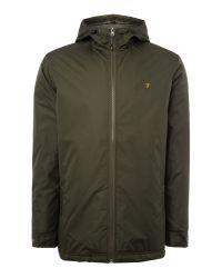 Farah | Green Rydal Lightweight Hooded Jacket for Men | Lyst