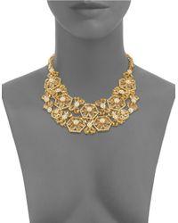 Kate Spade   Metallic At First Blush Floral Bib Necklace   Lyst