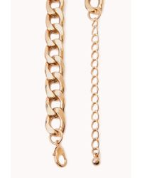 Forever 21 - Metallic Posh Curb-Chain Necklace - Lyst