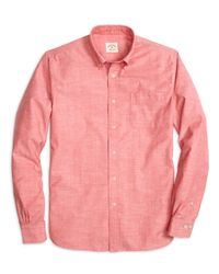 Brooks Brothers - Red Chambray Sport Shirt for Men - Lyst
