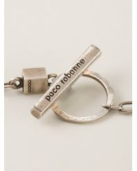Paco Rabanne Gray Pop Art Necklace