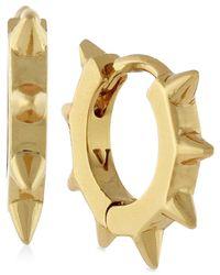 Vince Camuto - Metallic Gold-tone Spike Hoop Earrings - Lyst