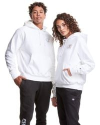 Champion White Exclusive Reverse Weave Hoodie