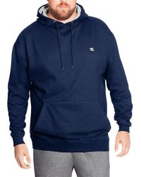 Champion - Blue Big & Tall Pullover Fleece Hoodie With Contrast Liner for Men - Lyst