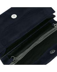 Charles Clinkard Blue Martina Sp Womens Clutch Bag