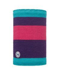 Charles Clinkard Purple Berna Knitted Neckwarmer