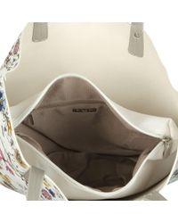 David Jones - White Poppy Womens Reversible Casual Shoulder Bag - Lyst