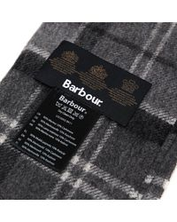 Barbour Black Merino Lambswool And Cashmere Fringe Scarf for men