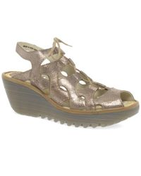 Fly London - Natural Yexa Womens Wedge Heel Shoes - Lyst