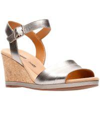 Clarks Multicolor Lafley Aletha Womens Wedge Sandals