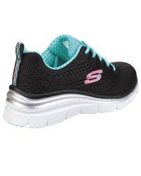Skechers Black Fashion Fit Statement Piece Sneaker
