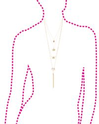 Charlotte Russe - Metallic Layered Chain & Tassel Necklace - Lyst