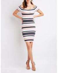 80a9cd12dba Charlotte Russe. Women s Ribbed Off The Shoulder Bodycon Dress